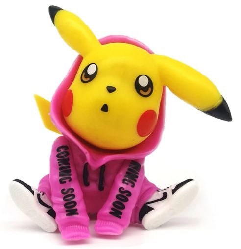 Mini Figure Pikachu Moletom Rosa - Pokémon