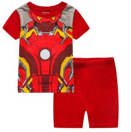 Pijama Curto Homem de Ferro Infantil