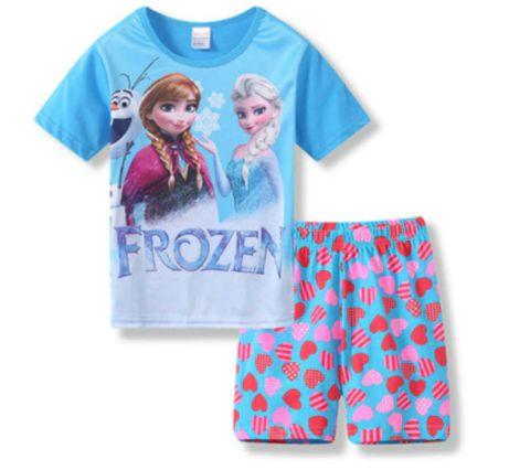 Pijama Curto Frozen Infantil