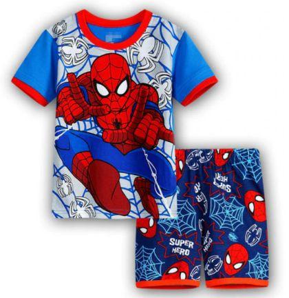 Pijama Curto Homem Aranha Ver. 10 Infantil