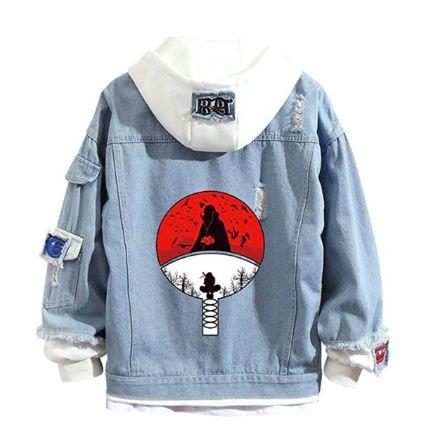 Jaqueta Jeans Leque Uchiha - Naruto