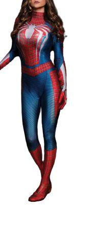Fantasia Cosplay Feminino Spider Man Alta Qualidade - Adulto