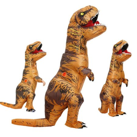Fantasia inflável Dinossauro T Rex Realista Adulto 2,20 M