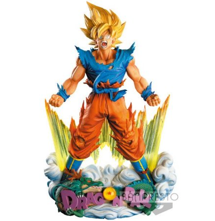 Diorama Goku SSJ Banpresto Master Star Action Figure - Dragon Ball