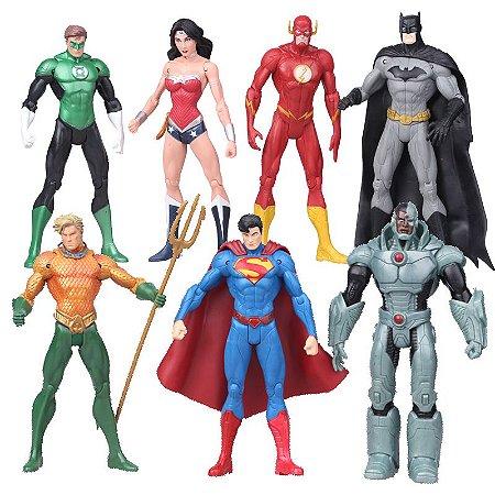 Coleção Action Figures Liga Da Justiça Dc Comics 18 Cm