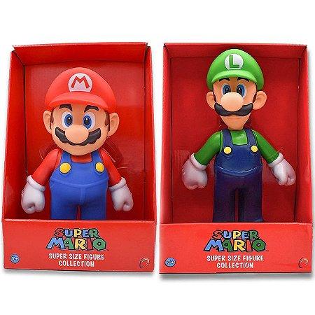 Super Mario Action Figure Colecionável Nintendo Mario e Luigi 23 Cm