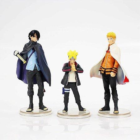 3 Action Figures Naruto Boruto Sasuke Next Generations