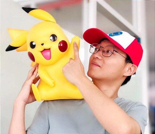 Pikachu tamanho real Escala 1:1 40 Cm Pokémon Nintendo