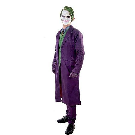 Fantasia Cosplay Coringa Completa Joker Batman - Dc Comics