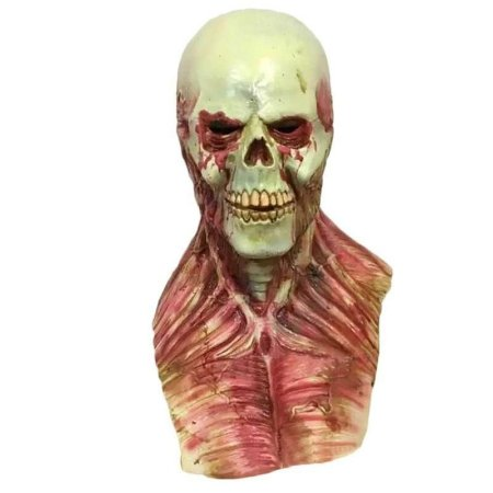 Máscara Cosplay Látex Esqueleto Zumbi - Fantasias