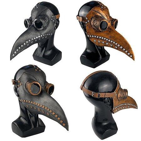 Máscara Látex Médico da Peste Negra - Fantasias