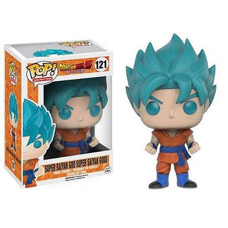 Funko Dragon Ball Super 121 Goku SSJ God Blue - Funko Pop