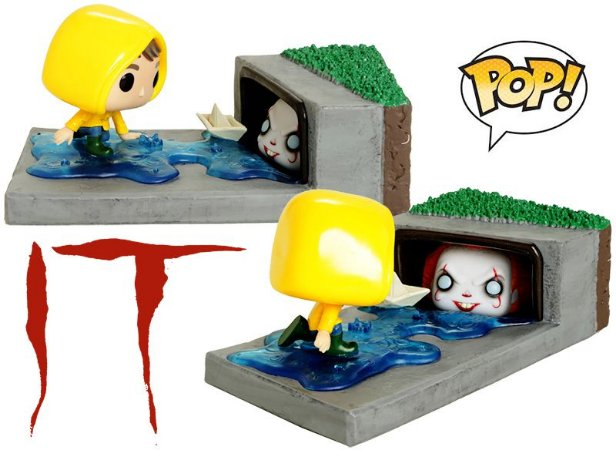 Funko It A Coisa 584 Pennywise And Georgie In Gutter - Funko Pop