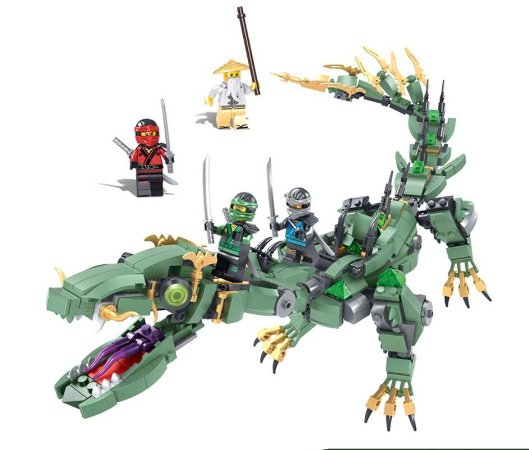 Ninjago Green Ninja Mech Dragon 486 peças - Blocos de montar
