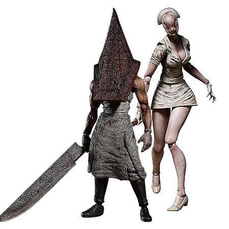 Kit 2 Action Figures Silent Hill Pyramid Head e Bubble Head Nurse - Figma