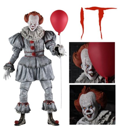 Pennywise Bill Skarsgard Action Figure Escala 1/4 It a Coisa Stephen King - NECA