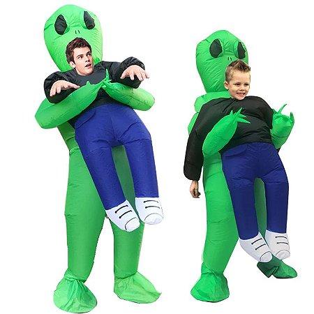 Fantasia Cosplay Inflável Alien Completo ET - Fantasias