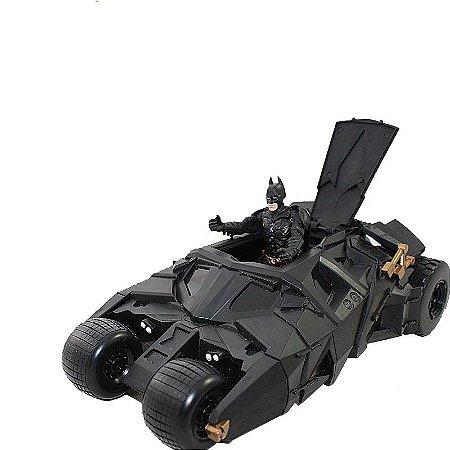 Batmóvel + Boneco Action Figure Batman Cavaleiros das Trevas - Dc Comics