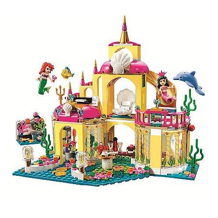 Princesas A Pequena Sereia Ariel 353 peças + 4 personagens - Blocos de Montar