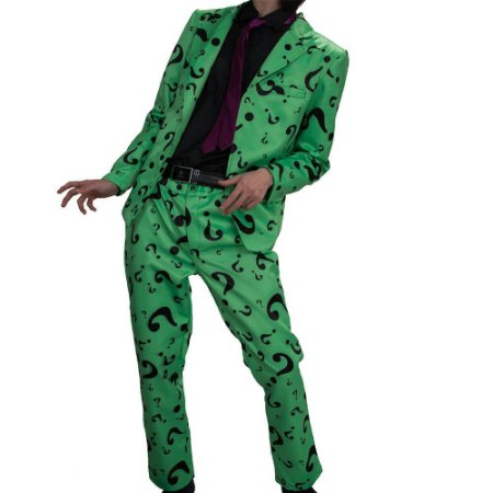 Fantasia Cosplay Charada Riddler Batman - Dc Comics