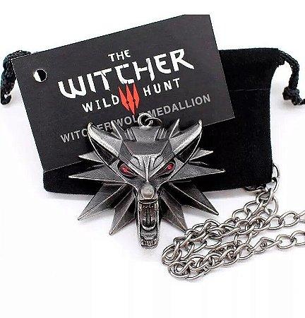 Colar Geralt The Witcher Medalhão Escola do Lobo