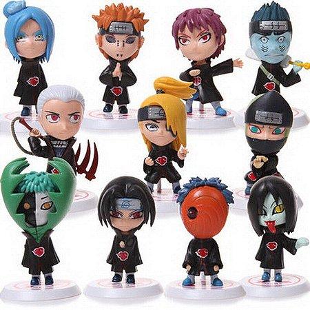 Kit Akatsuki Naruto Shippuden Lote com 11 Personagens - Anime Geek