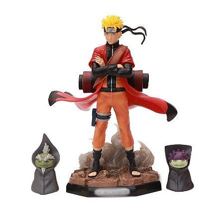 Naruto Uzumaki Modo Sennin Estátua 22 cm Naruto Shippuden