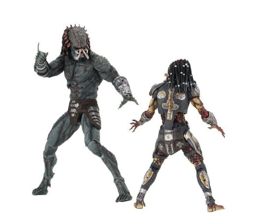 Action Figure Predador Ultimate Fugitive e Amored Assassin Deluxe Predador - Neca