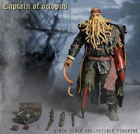 Action Figure Davy Jones Piratas Do Caribe 32cm