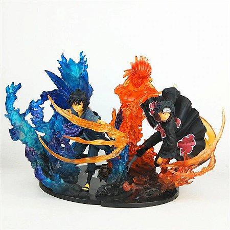 Itachi e Sasuke Uchiha Susanoo 2 Figures Bandai Relations Naruto Shippuden