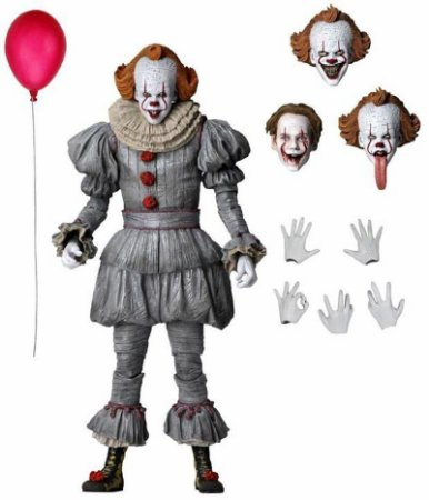 Pennywise Action Figure It A Coisa Capítulo 2 - Ultimate Neca