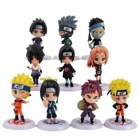 Kit com 10 Personagens Naruto Clássico - Anime Geek