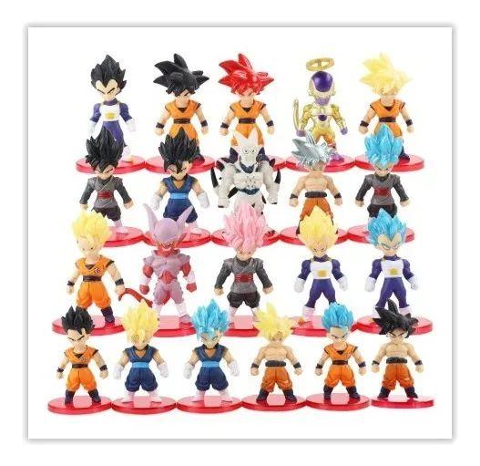Lote com 21 Bonecos Dragon Ball 7 cm - Animes Geek