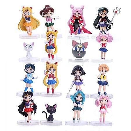 Sailor Moon Kit com 16 personagens - Animes Geek