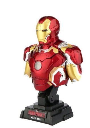 Busto Iron Man Escala 1/4 Mark 43 com LED