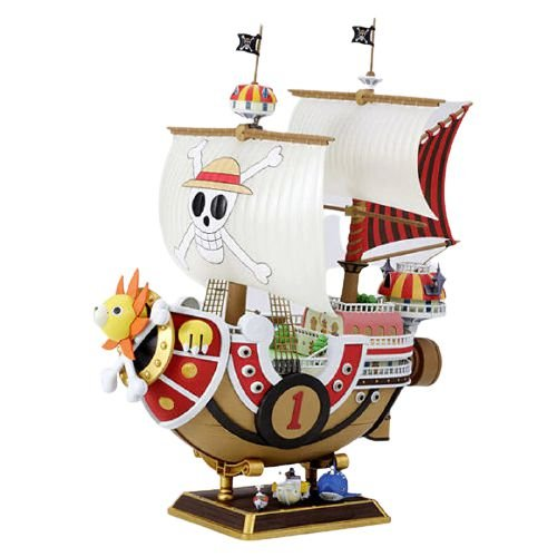Barco One Piece Thousand Sunny + 9 Mini personagens - One Piece