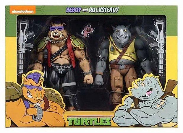 Kit 2 Action Figures Bebop e Rocksteady TMNT - Nickelodeon