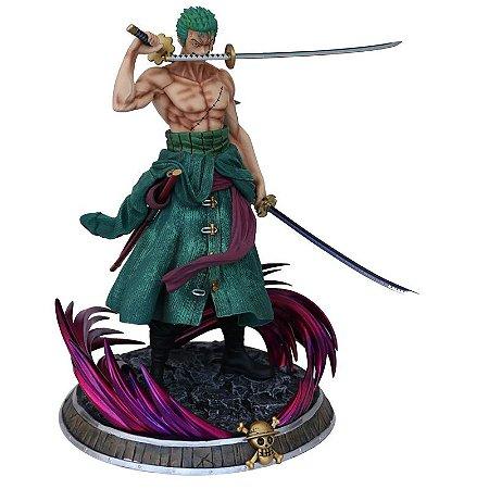 Estátua Roronoa Zoro 40 Cm Figure One Piece - Animes Geek