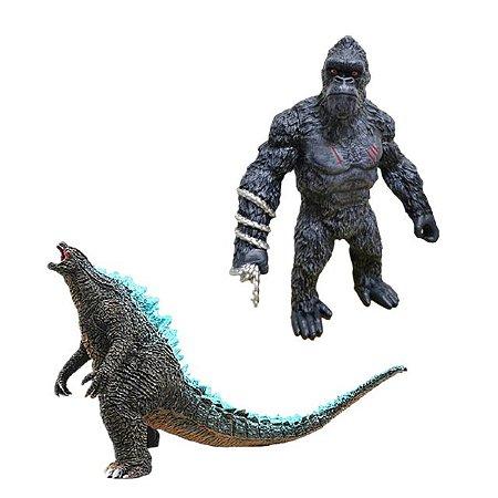 Godzilla Vs King Kong Kit com 2 Figuras 35 Cm