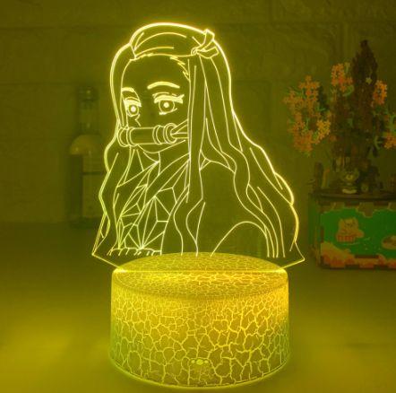 Luminária 3D Nezuko Kamado 16 Cores com controle remoto - Kimetsu No Yaiba