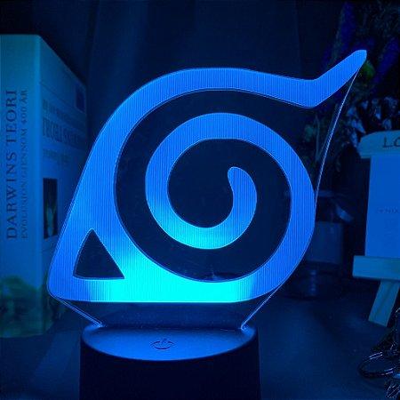 Luminária LED 3D Konoha Vila da Folha 16 Cores com controle remoto - Naruto Shippuden