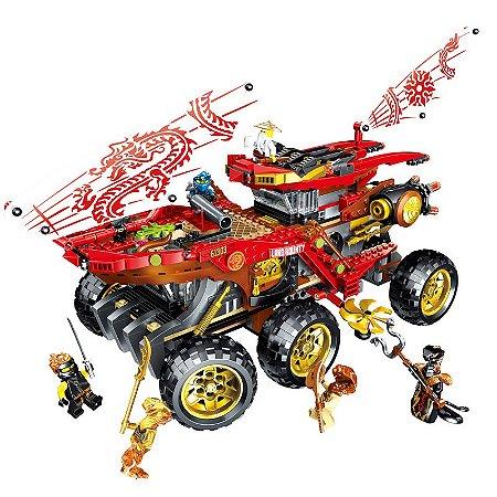 Carro de Assalto Ninja 858 peças - Blocos de Montar