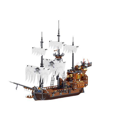 Navio Pirata com 1171 peças 65 cm de comprimento - Blocos de Montar