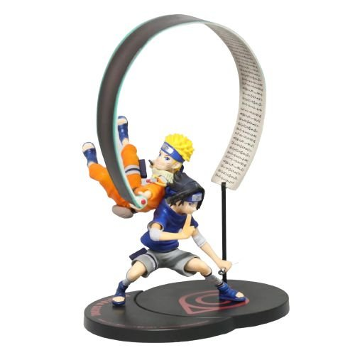 Diorama Naruto e Sasuke Jutsu - Naruto Clássico