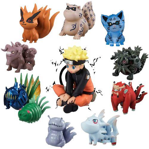 Pack 11 peças Naruto Uzumaki e as bestas de caudas - Naruto Clássico