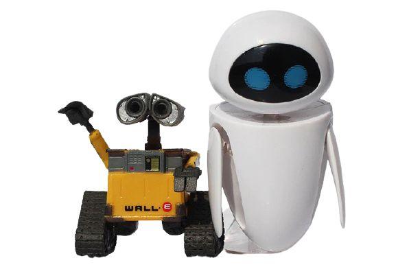 Kit com 2 Figuras Walle e Eve - Wall-E