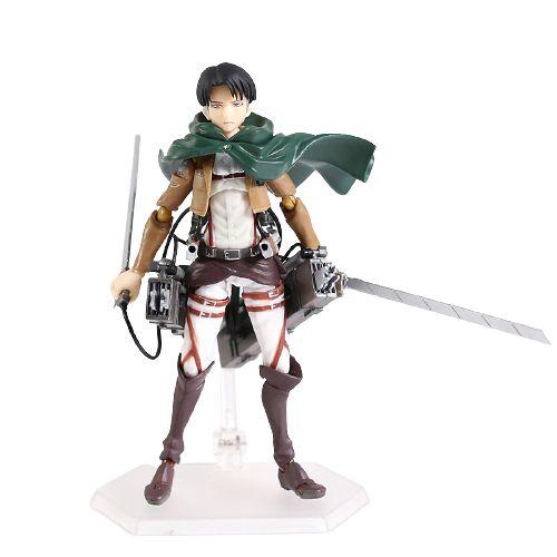Action Figure Levi articulado Attack On Titan - Shingeki No Kyojin