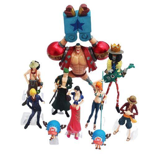 Kit com 10 personagens One Piece - Animes Geek