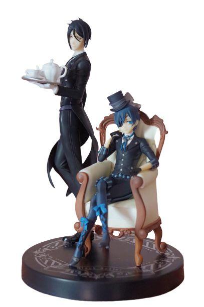 Kit 2 Figuras Sebastian e Ciel - Black Butler