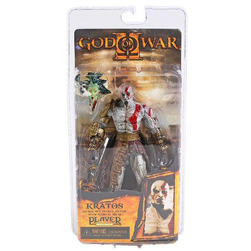 Action Figure Kratos Cabeça da Medusa God Of War - Neca